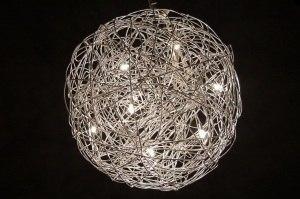 hanglamp 70590: modern, aluminium, rond, langwerpig