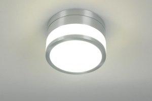 plafondlamp 70645: modern, design, aluminium, kunststof