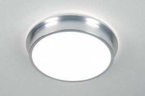 plafondlamp 70669: modern, aluminium, kunststof, rond
