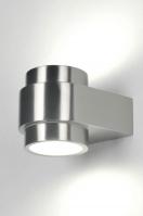 wandlamp 70902: modern, glas, helder glas, mat glas