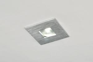 inbouwspot 71057: modern, design, aluminium, vierkant