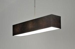 pendelleuchte 71216 modern schwarz stoff rechteckig. Black Bedroom Furniture Sets. Home Design Ideas