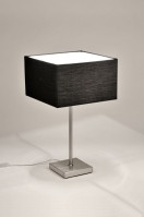 tafellamp 71222: modern, staal , rvs, stof