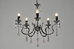 hanglamp 71270: modern, klassiek, kristal, metaal