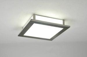 plafondlamp 71295: modern, klassiek, glas, wit opaalglas