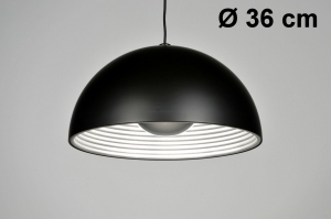 hanglamp 71371: modern, design, zwart, mat