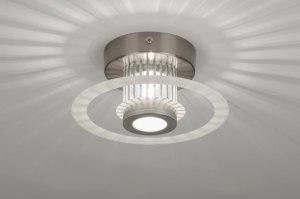 plafondlamp 71420: modern, design, aluminium, glas