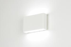 wandlamp 71534: modern, design, aluminium, wit