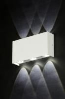 wandlamp 71540: modern, design, aluminium, wit