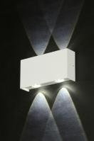 wandlamp 71542: modern, design, aluminium, wit
