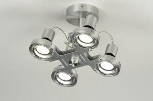 plafondlamp 71544: modern, design, aluminium, rond