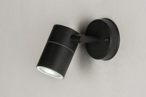 spot 71570: modern, zwart, mat, metaal
