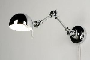 wandlamp 71595: modern, retro, metaal, rond