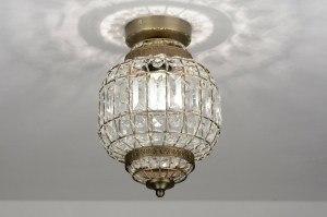 plafondlamp 71600: klassiek, retro, roest, bruin
