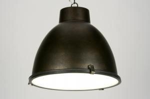 hanglamp 71712: modern, industrie, look, roest