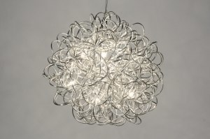 hanglamp 71737: modern, design, aluminium, rond