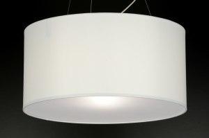 hanglamp 71765: modern, wit, stof, rond