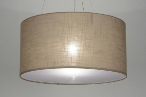 hanglamp 71766: modern, taupe, stof, rond