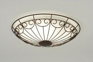 plafondlamp 71775: klassiek, retro, roest, bruin