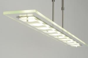 hanglamp 71781: modern, glas, helder glas, langwerpig