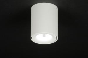 plafondlamp 71797: modern, design, wit, mat