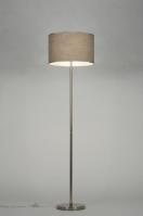 vloerlamp 71808: modern, staal , rvs, stof