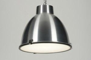 hanglamp 71832: industrie, look, aluminium, rond