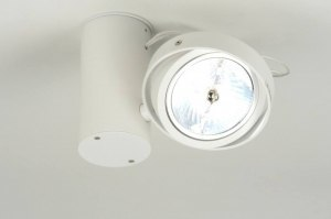 plafondlamp 71873: modern, design, aluminium, wit