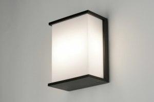 wandlamp 71917: modern, aluminium, kunststof, zwart