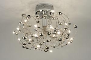 plafondlamp 71926: modern, design, metaal, rond