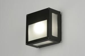 plafondlamp 71934: modern, zwart, mat, aluminium