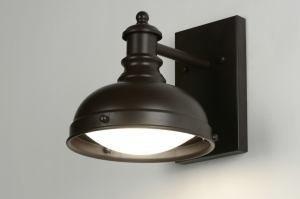 wandlamp 71940: klassiek, retro, glas, wit opaalglas