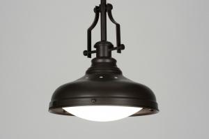 hanglamp 71941: klassiek, bruin, metaal, rond