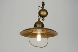 hanglamp 71946: klassiek, roest, bruin, brons