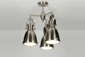 hanglamp 71948: eigentijds klassiek, industrie, look, staalgrijs