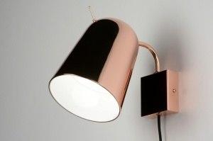 wandlamp 71965: modern, design, metaal, rond