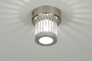 plafondlamp 71995: modern, design, aluminium, glas