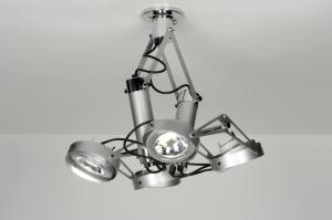plafondlamp 72009: modern, industrie, look, staalgrijs