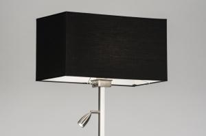 vloerlamp 72056: modern, staal , rvs, stof
