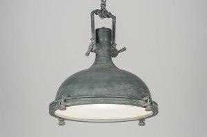 hanglamp 72068: industrie, look, metaal, rond