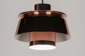 hanglamp 72096: modern, retro, glas, rond