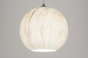 hanglamp 72097: modern, retro, glas, rond