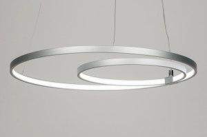 hanglamp 72101: modern, design, aluminium, rond