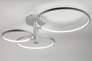 plafondlamp 72108: modern, design, kunststof, metaal