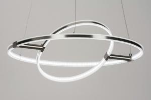 hanglamp 72113: modern, design, staalgrijs, staal rvs