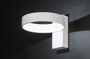 wandlamp 72139: modern, design, aluminium, wit