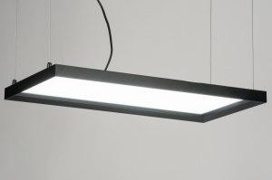 hanglamp 72155: modern, zwart, mat, kunststof