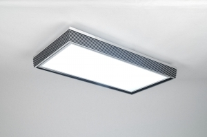 plafondlamp 72157: modern, design, zwart, kunststof