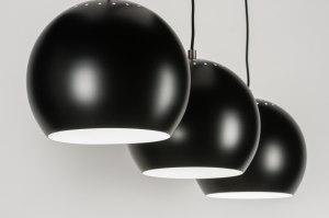 hanglamp 72161: modern, retro, metaal, zwart
