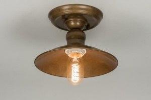 plafondlamp 72178: klassiek, retro, roest, bruin